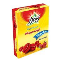 آبنبات توت فرنگی بدون قند کامور مقدار 160 گرم