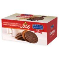 بیسکویت با سبوس و روکش شکلات رژیمی و بدون شکر کامور مقدار 200 گرم