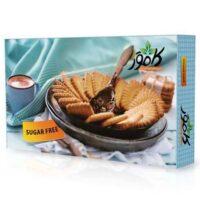 بیسکویت طعم دار وانیلی بدون شکر و رژیمی کامور مقدار 700 گرم