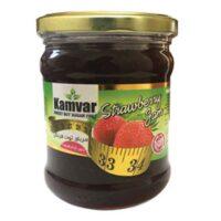 مربای توت فرنگی بدون شکر و رژیمی کامور مقدار 280 گرم