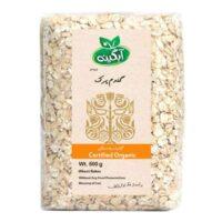 گندم پرک ارگانیک آبگینه مقدار 500 گرم