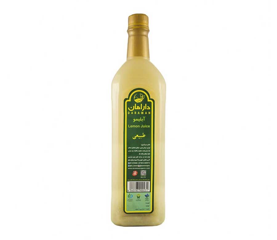 آبلیمو طبیعی دارامان مقدار 1 لیتر